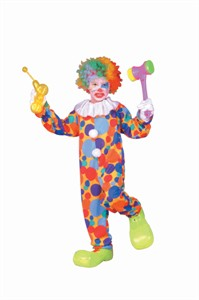 Child Colorful Clown Costume