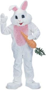 White Premium Bunny Mascot Costume