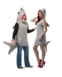 Sand Shark and Shark Dress Couples Costume
