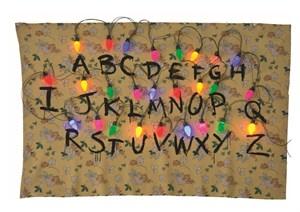 Stranger Things Alphabet Tapestry