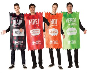 Taco Bell Hot Sauce Packet Costume Set