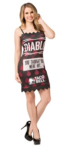 Taco Bell Hot Sauce Packet Dress - Diablo