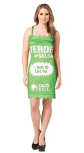 Taco Bell Hot Sauce Packet Dress - Verde