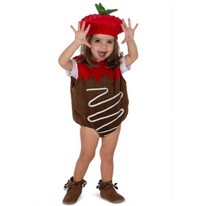 Toddler Chocolate Dipped Strawberry Costume
