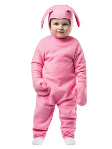 Toddler Christmas Pink Bunny Costume 3-4T