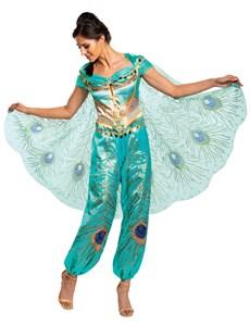 Women's Jasmine Teal Deluxe Costume - Aladdin Live Action