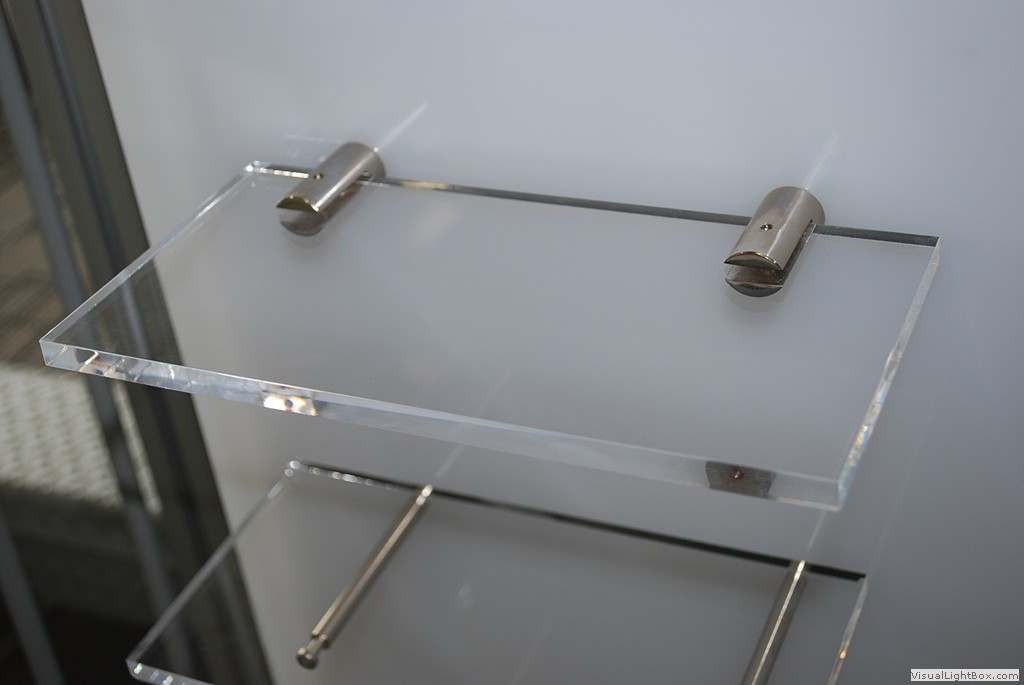 panel mount stainless steel shelf standoff hardware for 1 4 3 8 rh framedisplays com 8 inch shelf bracket 8 inch shelf bracket