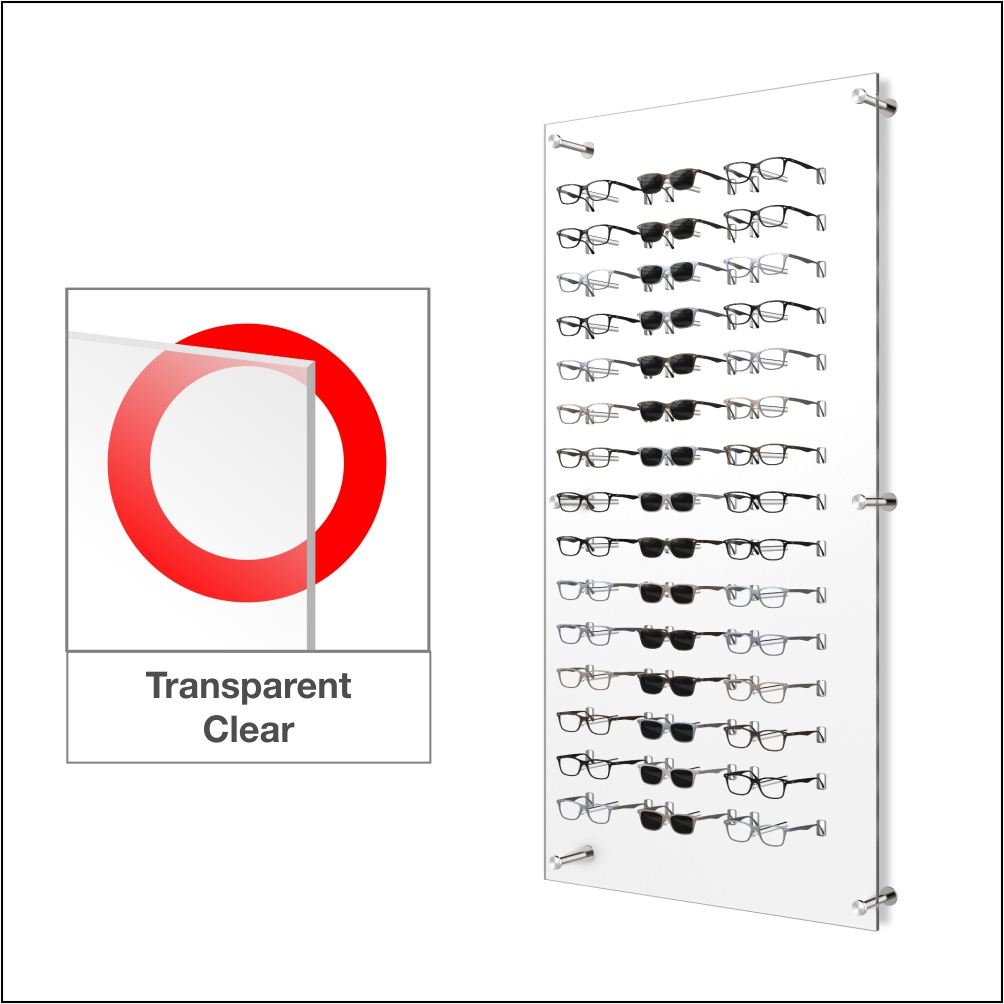 Dw31 45f Wall Mount Acrylic Optical Display With Hardware