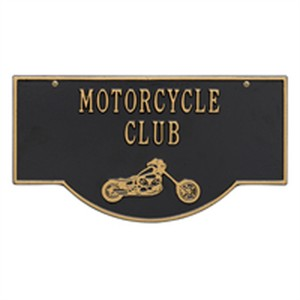 Personalized 2 Sided Hanging Garage Chopper Plaque