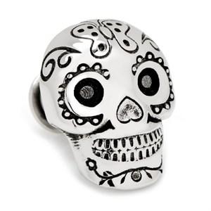 3D Day of the Dead Skull Lapel Pin