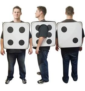 3D Dice Costume Cardboard Cutout