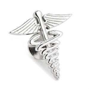 3D Medical Caduceus Lapel Pin