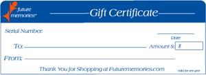 50 Dollar Gift Certificates