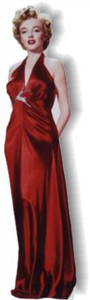 Life Size Marilyn Monroe Standee - Red Dress
