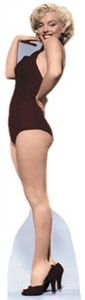 Life Size Marilyn Monroe Standee - Black Swimsuit