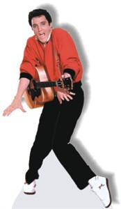 Life Size Elvis Presley Standee - Red Jacket
