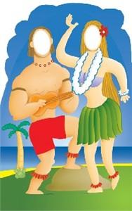 Life Size Hawaiian Couple Standee