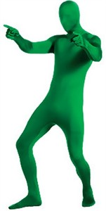 Adult 2nd Skin Green Body Suit