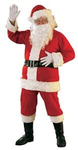 Adult Santa Costume - 6 Piece Flannel
