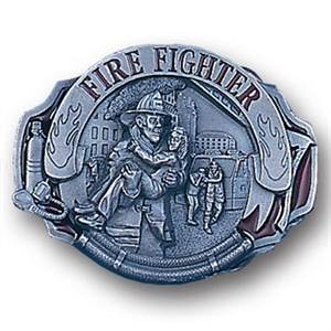 Alternate Fire Fighter Enameled Belt Buckle
