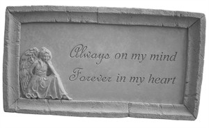 Always on my mind...Framed Memorial Stone
