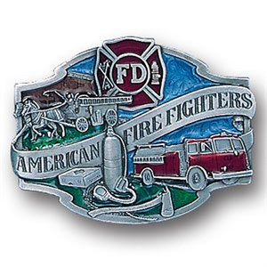 American Fire Fighters Enameled Belt Buckle