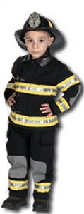 Jr. Firefighter Costume with Black
