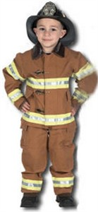 Jr. Firefighter Costume with Helmet - Tan