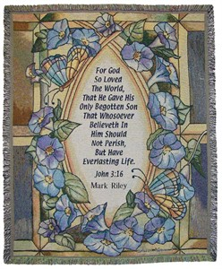 Personalized John 3:16 Tapestry Throw