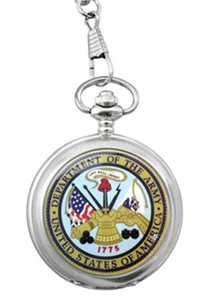 Personalized Army Pocket Watch - Heroes Timepiece Collection