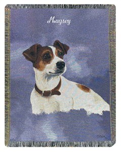 Personalized Dog Throw - Jack Russell