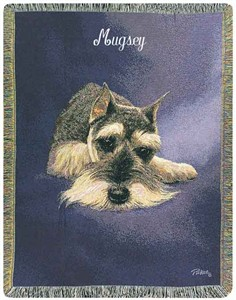 Personalized Dog Throw - Schnauzer