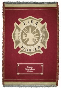 Personalized Firefighter Throw - Heroes Collection