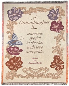 Personalized Granddaughter Throw