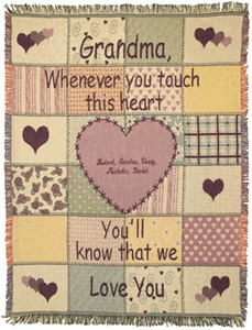 Personalized Grandmother Throw
