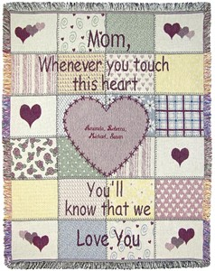 Personalized Mother Throw