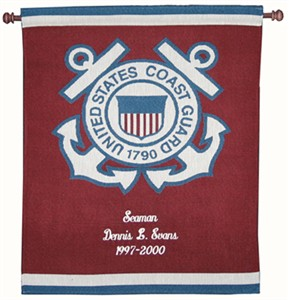 Personalized Coast Guard Wall Hanging - Heroes Collection