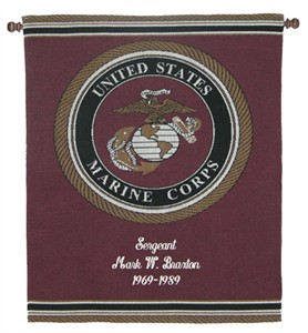 Personalized Marine Wall Hanging - Heroes Collection