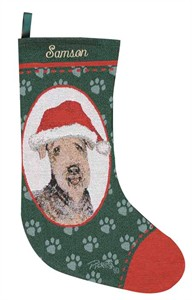 Personalized Dog Christmas Stocking - Airedale