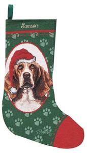 Personalized Dog Christmas Stocking - Basset Hound