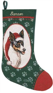 Personalized Dog Christmas Stocking - Rat Terrier