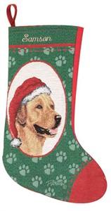 Personalized Dog Christmas Stocking - Lab (Yellow)