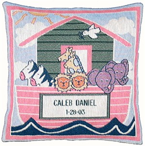 Personalized Noah's Ark Baby Pillow
