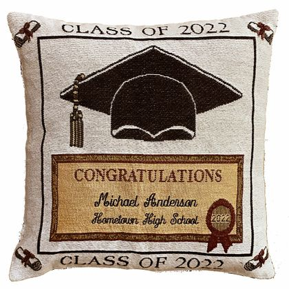 Personalized Graduation Tapestry Pillow