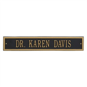 Personalized Arch Estate Address Plaque Extension