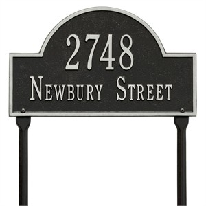 Personalized Arch Lawn Address Plaque - 2 Line
