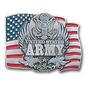 Army Enameled Belt Buckle