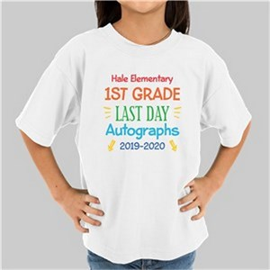 Personalized Autographs Youth White T-Shirt