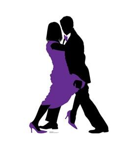 Ballroom Dancers Silhouette Cardboard Cutout
