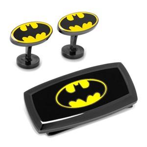 Batman Cufflinks and Cushion Money Clip Gift Set